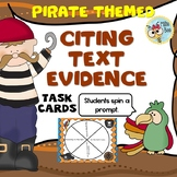 Citing Textual Evidence - 2nd, 3rd grade, Pirate themed