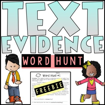 Text Evidence Citing Word Hunt (Freebie!)