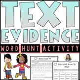 Citing Textual Evidence Practice Worksheets