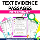 Text Evidence (Comprehension Practice) - Distance Learning