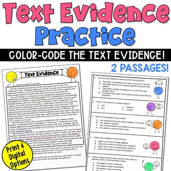 Text Evidence Craftivity