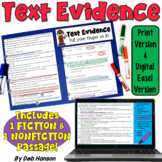 Text Evidence Craftivity