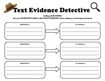 Text Evidence Detective