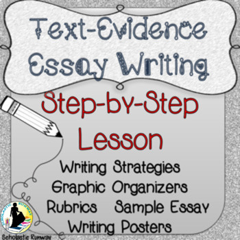 Text Evidence Essay Writing Responding to Text