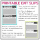 Text Evidence Exit Slips