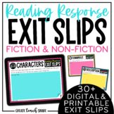 Reading Exit Slips    Digital & Printable   Distance Learning