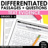 Text Evidence Explicit Details - Reading Comprehension Pas