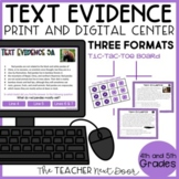 Text Evidence Game | Text Evidence Center | Text Evidence