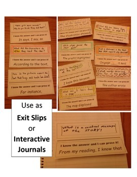 Text Evidence:  I Spy the Proof Interactive Notebook Pages or Exit Slips