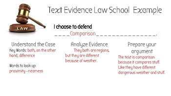Text Evidence Law School--Text Structure