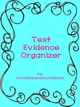 Text Evidence Organizer