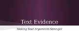 Text Evidence PPT with Guided Notes
