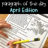 Text Evidence Reading Paragraph of the Day April Edition