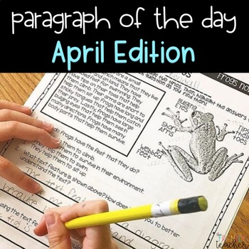 Text Evidence Paragraph of the Day-April