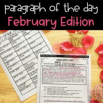 Text Evidence Paragraph of the Day February Edition