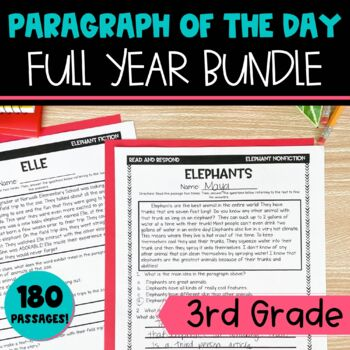Text Evidence Paragraph of the Day Full Year BUNDLE