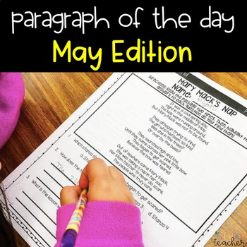 Text Evidence Paragraph of the Day-May