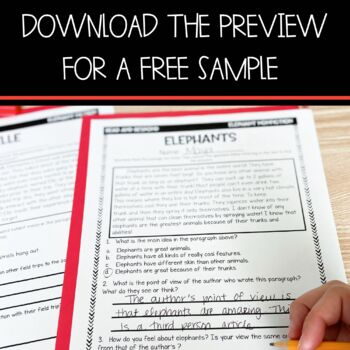 Text Evidence Paragraph of the Day-September