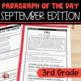 Text Evidence Reading Paragraph of the Day September Edition