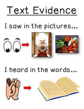 Text Evidence Poster