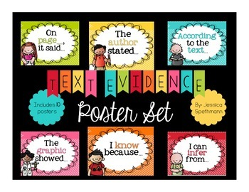 Text Evidence - Poster Set