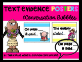 Text Evidence Posters and Conversation Bubbles