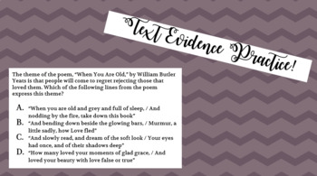 Text Evidence Practice