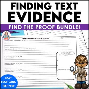 Text Evidence Proof Frames Bundle