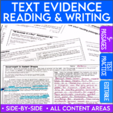 Smarter Balanced ELA Test Prep | Text Evidence Proof Frames