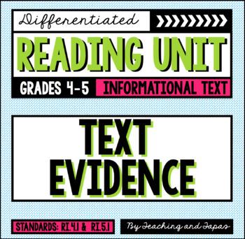 Text Evidence (RI.4.1 and RI.5.1)