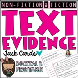Text Evidence Reading Comprehension Task Cards