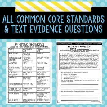 Text Evidence Reading Paragraph of the Day January Edition