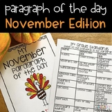 Text Evidence Reading Paragraph of the Day November Edition
