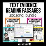 Text Evidence Reading Passages BUNDLE Digital Distance Learning