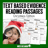 Text Evidence Reading Passages CHRISTMAS EDITION