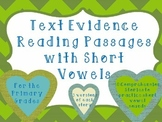 Comprehension and Fluency Passages-Short Vowels