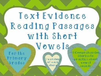 Comprehension and Fluency Passages-Short Vowels