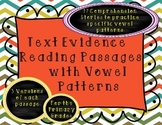 Comprehension and Fluency Passages- Vowel Patterns