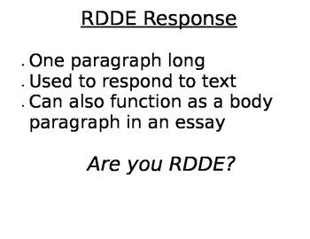 Text Evidence Reading Response