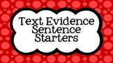 Text Evidence Sentence Starter Posters