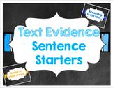 Chalkboard Text Evidence Sentence Starter Posters