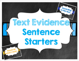 Chalkboard Text Evidence Sentence Starter Posters