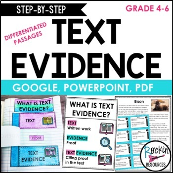 Text Evidence Passage, Text Evidence Task Cards, Anchor Ch