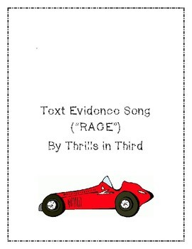 """Text Evidence Song (""""RACE"""")"""