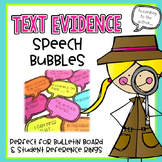 Text Evidence Speech Bubbles