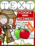 Text Evidence-Fall (For Beginners)