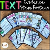 Text Evidence Stem Posters