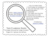 Text Evidence Sticks