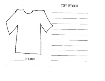 Text Evidence T-shirt activity