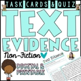 Text Evidence Task Cards (All About Animals!)
